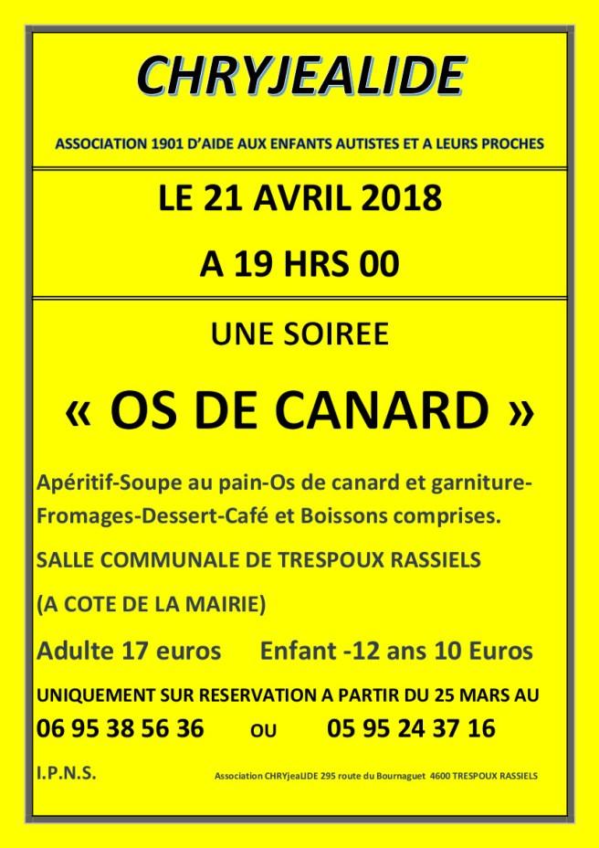 AFFICHE OS DE CANARD 2